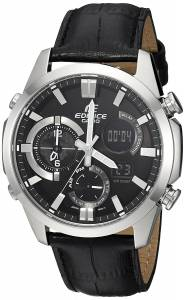 [カシオ]Casio  'Edifice' Quartz Stainless Steel Casual Watch, Color:Black ERA500L-1A メンズ
