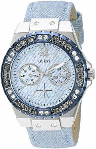 [ゲス]GUESS 腕時計 Iconic Sky Blue Denim Multifunction Watch U0775L1 レディース