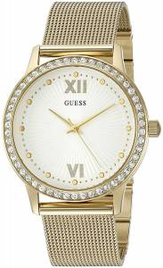 [ゲス]GUESS  Sleek GoldTone with Crisp White Dial and SelfAdjustable Links U0766L2