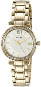 [ゲス]GUESS 腕時計 GoldTone Watch with SelfAdjustable Links U0767L2 レディース