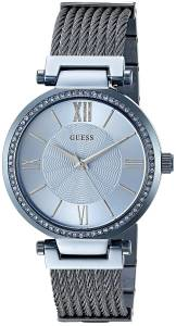 [ゲス]GUESS  Feminine Iconic Sky Blue Wired Bracelet with SelfAjustable Links U0638L3