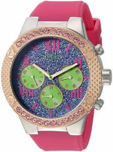 [ゲス]GUESS  Sporty MultiFunction Watch on Comfortable Pink Silicone Strap U0772L4