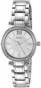 [ゲス]GUESS  JewelryInspired SilverTone Watch with SelfAdjustable Links U0767L1 レディース