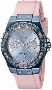 [ゲス]GUESS  Iconic Sky Blue MultiFunction Watch on Pink Silicone Strap U0775L5 レディース