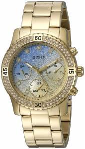 [ゲス]GUESS  GoldTone Watch with Iconic Sky Blue MultiFunction Dial U0774L2 レディース
