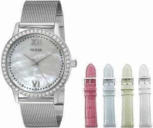 [ゲス]GUESS  Interchangeable Wardrobe Watch Set with Beautiful Accessory Box U0785L1