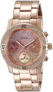 [ゲス]GUESS 腕時計 Rose GoldTone Watch with Pink MultiFunction Dial U0774L3 レディース
