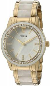 [ゲス]GUESS 腕時計 TrendRight GoldTone Watch with White Center Link U0706L3 レディース
