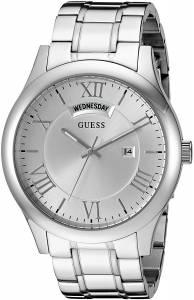 [ゲス]GUESS 腕時計 Classic SilverTone Watch with Date Function U0791G1 メンズ
