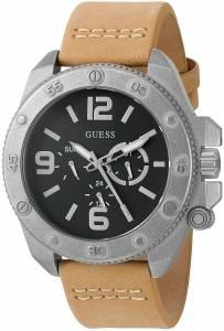 [ゲス]GUESS 腕時計 MultiFunction Watch with Tan Genuine Leather Strap U0659G4 メンズ