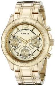 [ゲス]GUESS  Classic Sporty GoldTone Watch with MultiFunciton Dial U0704L1 レディース