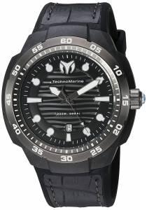 [テクノマリーン]TechnoMarine  Sun Reef Analog Display Swiss Quartz Black Watch TM-515009