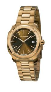 [ウェンガー]Wenger 腕時計 Edge Index Rose Gold Plated Bracelet Watch 01.1121.105