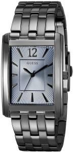 ゲスGUESS腕時計 GUESS Men's U0665G2 Sleek Grey Stainless Steel Watch with Sky Blue Dial