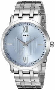 [ゲス]GUESS 腕時計 Classic SilverTone Watch with Sky Blue Dial U0716G1 メンズ