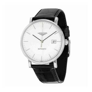 [ロンジン]Longines  Elegant White Dial Black Alligator Leather Automatic Watch L49104122