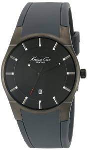 Kenneth Cole 10027723 Men's Stainless steel Black Silicone Band Grey Dial Sma... (parallel imports)