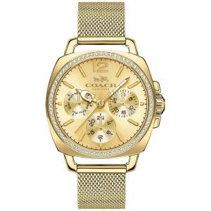 [コーチ]Coach  Boyfriend 34mm Mesh Watch Gold/Gold Plated Watch 14502490 レディース