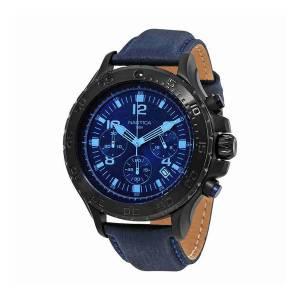 [ノーティカ]Nautica 腕時計 NST 01 Chronograph Dark Blue Dial Watch NAI21008G メンズ