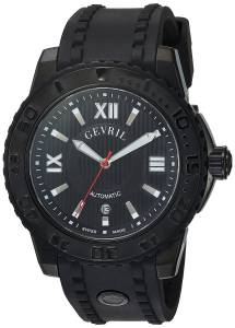[ジェビル]Gevril  Seacloud Analog Display Automatic Self Wind Black Watch 3110 メンズ
