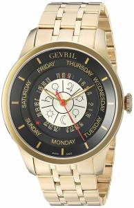 [ジェビル]Gevril  Columbus Circle Analog Display Automatic Self Wind Gold Watch 2007B メンズ