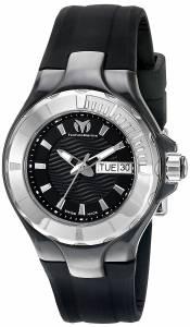 [テクノマリーン]TechnoMarine Cruise Ceramic Analog Display Swiss Quartz Black Watch TM-110026