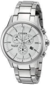 [シチズン]Citizen  EcoDrive 'Titanium' Quartz Casual Watch, Color: SilverToned AT2340-56A