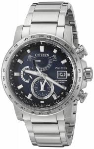 [シチズン]Citizen EcoDrive 'World Time AT' Quartz Stainless Steel Casual Watch, AT9070-51L