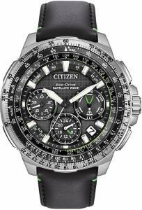 [シチズン]Citizen Promaster Navihawk GPS Stainless Steel and Leather Luxury Watch, CC9030-00E