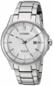 [シチズン]Citizen EcoDrive 'Titanium' Quartz Titanium Casual Watch, Color: Silver AW1490-50A