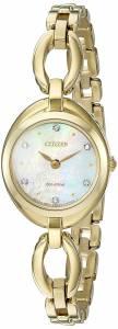 [シチズン]Citizen EcoDrive 'Silhouette' Quartz Stainless Steel Casual Watch, Color: EX1432-51D