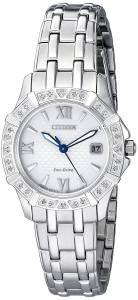 [シチズン]Citizen  'Diamond' Quartz Stainless Steel Casual Watch EW2360-51A レディース