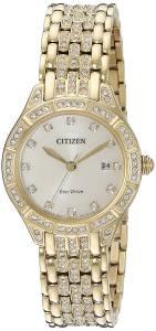 [シチズン]Citizen 'Silhouette' Quartz Stainless Steel Casual Watch, Color:GoldToned EW2322-50P