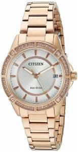 [シチズン]Citizen Drive From EcoDrive Quartz Stainless Steel Casual Watch, Color: FE6063-53A