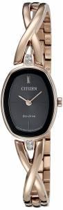 [シチズン]Citizen EcoDrive 'Silhouette' Quartz Stainless Steel Casual Watch, Color: EX1413-55E