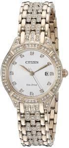 [シチズン]Citizen EcoDrive 'Silhouette' Quartz Stainless Steel Casual Watch, Color: EW2323-57A