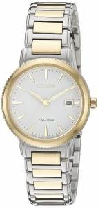 [シチズン]Citizen EcoDrive 'Sport' Quartz Stainless Steel Casual Watch, Color: Two EW2374-56A