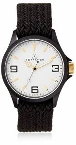 [トイウォッチ]Toy Watch  Quartz Polycarbonate and Fabric/Steel, Color:Black ST02BK