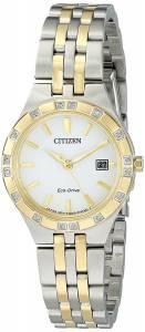 [シチズン]Citizen EcoDrive 'Sport' Quartz Stainless Steel Casual Watch, Color: Two EW2334-51A