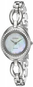 [シチズン]Citizen EcoDrive 'Silhouette' Quartz Stainless Steel Casual Watch, Color: EX1440-61D