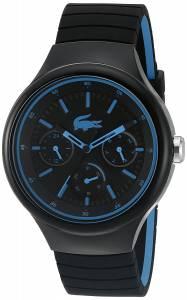 [ラコステ]Lacoste  'Borneo' Quartz Resin and Silicone Casual Watch, Color:Black 2010869