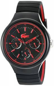 [ラコステ]Lacoste  'Borneo' Quartz Resin and Silicone Casual Watch, Color:Black 2010868