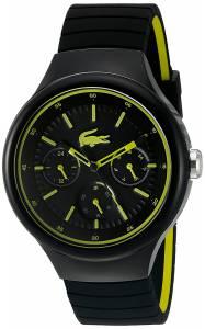 [ラコステ]Lacoste  'Borneo' Quartz Resin and Silicone Casual Watch, Color:Black 2010867