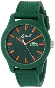[ラコステ]Lacoste  '12.12' Quartz Resin and Silicone Casual Watch, Color:Green 2010862