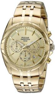 [パルサー]Pulsar 腕時計 'Chronograph' Quartz GoldToned Dress Watch PT3686 メンズ