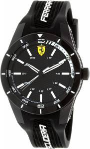[フェラーリ]Ferrari 腕時計 Scuderia Silicone Watch Black Dial 830249 メンズ