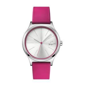[ラコステ]Lacoste 'Nikita' Quartz Stainless Steel and Silicone Casual Watch, Color:Pink 2000943