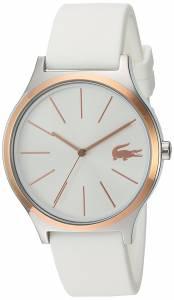 [ラコステ]Lacoste 'Nikita' Quartz Stainless Steel and Silicone Casual Watch, Color:White 2000945