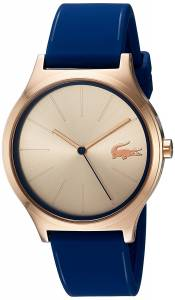 [ラコステ]Lacoste  'Nikita' Quartz Gold and Silicone Casual Watch, Color:Blue 2000944