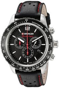 [ウェンガー]Wenger 'Roadster' Swiss Quartz Stainless Steel and Leather Automatic 01.0853.105